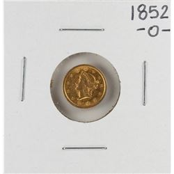 1852-O $1 Liberty Head Gold Dollar Coin