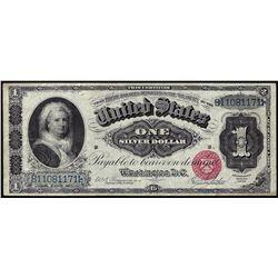 1886 $1 Martha Silver Certificate Note