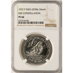 1972-P Proof SWO-207Bb 34mm USS Constellation Coin NGC PF66