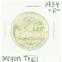 1934-D Oregon Trail Commemorative Half Dollar Coin