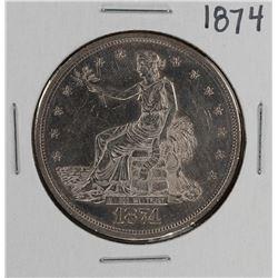 1874 $1 Trade Silver Dollar Coin
