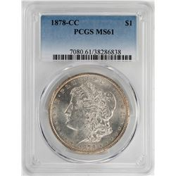 1878-CC $1 Morgan Silver Dollar Coin PCGS MS61