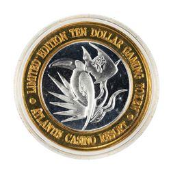 .999 Fine Silver Atlantis Casino & Resort Reno, NV $10 Limited Edition Gaming Token