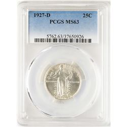 1927-D Standing Liberty Quarter Coin PCGS MS63