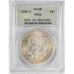1898-O $1 Morgan Silver Dollar Coin PCGS MS64 Old Green Holder