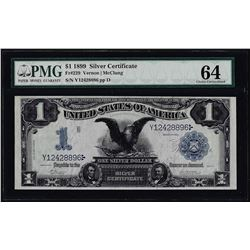 1899 $1 Black Eagle Silver Certificate Fr.229 PMG Choice Uncirculated 64