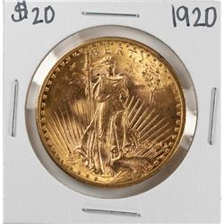 1920 $20 St. Gaudens Double Eagle Gold Coin