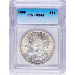1888 $1 Morgan Silver Dollar Coin ICG MS65