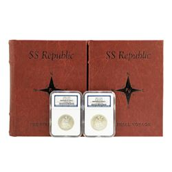 S.S. Republic Shipwreck 1858-O & 1859-O Seated Liberty Half Dollar Coins NGC Graded