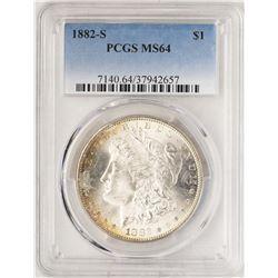 1882-S $1 Morgan Silver Dollar Coin PCGS MS64