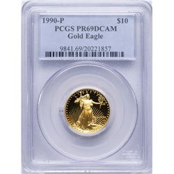 1990 $10 American Gold Eagle Proof Coin PCGS PR69DCAM