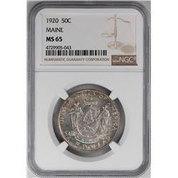 1920 Maine Centennial Commemorative Half Dollar Coin NGC MS65