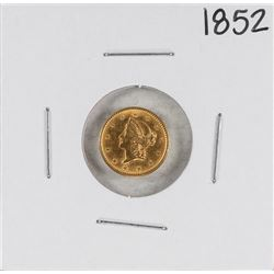 1852 $1 Liberty Head Gold Dollar Coin