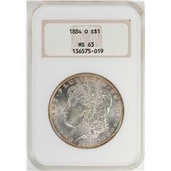 1884 $1 Morgan Silver Dollar Coin NGC MS63