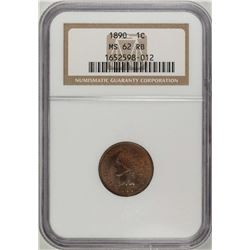 1890 Indian Head Cent Coin NGC MS62RB