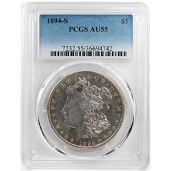 1894-S $1 Morgan Silver Dollar Coin PCGS AU55