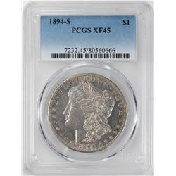 1894-S $1 Morgan Silver Dollar Coin PCGS XF45