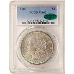 1900 $1 Morgan Silver Dollar Coin PCGS MS63 CAC AMAZING TONING