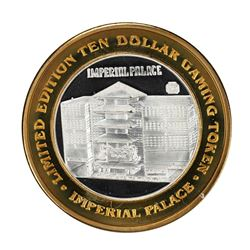 .999 Silver Imperial Palace Hotel & Casino Nevada $10 Gaming Token Limited Edition
