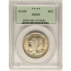 1936 Elgin Commemorative Half Dollar Coin PCGS MS66 Old Green Holder