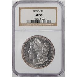 1895-O $1 Morgan Silver Dollar Coin NGC AU58