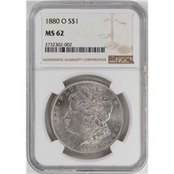 1880-O $1 Morgan Silver Dollar Coin NGC MS62