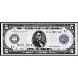 1914 $5 Federal Reserve Note Philadelphia