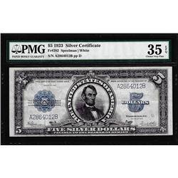 1923 $5 Porthole Silver Certificate Note Fr.282 PMG Choice Very Fine 35EPQ