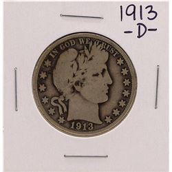 1913-D Barber Half Dollar Coin