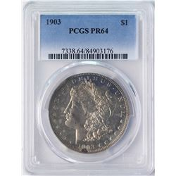 1903 $1 Proof Morgan Silver Dollar Coin PCGS PR64