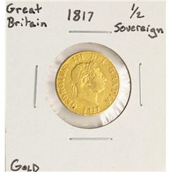 1817 Great Britain Half Sovereign Gold Coin