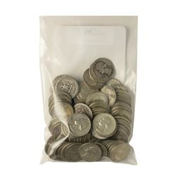 Bag of (100) Pre-1964 Silver Quarter Coins - $25 Face Value