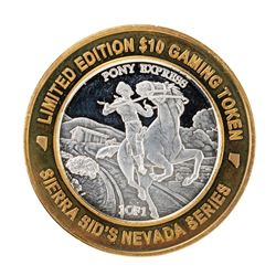 .999 Silver Sierra Sids Sparks, Nevada $10 Casino Limited Edition Gaming Token