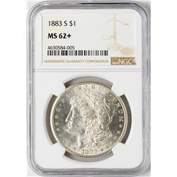 1883-S $1 Morgan Silver Dollar Coin NGC MS62+