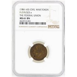 1861-65 Civil War Token The Federal Union NGC MS61BN