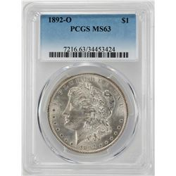 1892-O $1 Morgan Silver Dollar Coin PCGS MS63