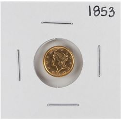 1853 $1 Liberty Head Gold Dollar Coin