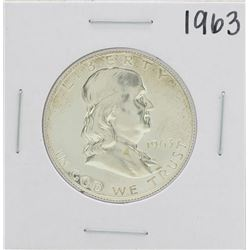 1963 Proof Franklin Half Dollar Coin