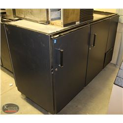 R140) PERLICK 2 DOOR PASSTHROUGH BACK BAR COOLER