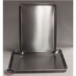 LOT OF 2 - 1/2 SIZE BUN PANS ALUMINUM