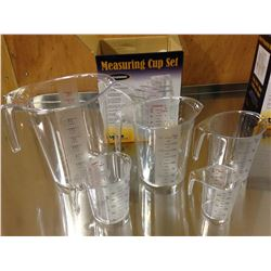 POLYCARB MEASURING CUP SET - 4L, 2L, 1L, 0.5L, 0.2