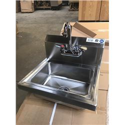 JOHNSON ROSE STAINLESS STEEL HAND SINK.