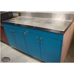 R155) STAINLESS STEEL TOP STORAGE CABINET