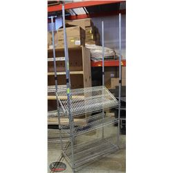 3' CHROME-WIRE 4-TIER COMMERCIAL STORAGE RACK