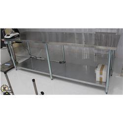 OMEGA STAINLESS STEEL TABLE W/ UNDER SHELF