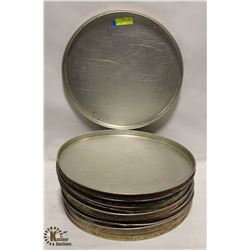 """LOT OF 12 EXTRA LARGE 18"""" PIZZA PANS"""