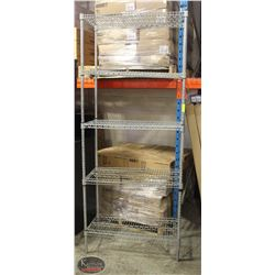 3' CHROME-WIRE 5-TIER COMMERCIAL STORAGE RACK