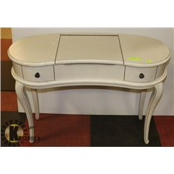 SOLID WOOD - WHITE MAKE-UP TABLE WITH
