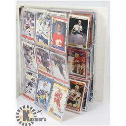 BINDER OF ALL HOCKEY ROOKIE CARDS