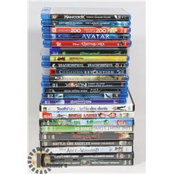 BOX OF ASSORTED DVDS MOVIES.
